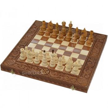 Шахматы, красное дерево. 50х50