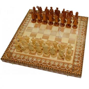 """Шахматы """"Казаки"""". Бисер+Медь."""