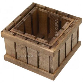 Набор деревянных ящиков, 2 шт. Орех