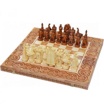 """Деревянные шахматы 3 в 1 """"Игра престолов"""". 55х55 см. Светлые"""