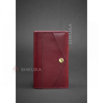 Женский кожаный блокнот (Софт-бук) 2.0 бордовый