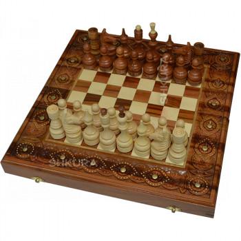 Шахматы + Нарды, 40х40 см. Медь