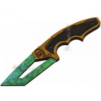 """Деревянный нож """"Череп"""", цветной"""