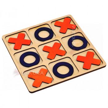 Деревянная игра крестики-нолики