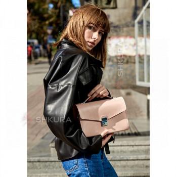 Женская кожаная сумка-кроссбоди Lola розовая