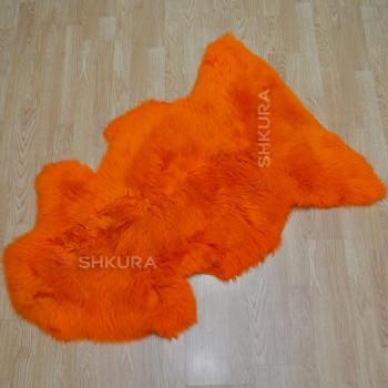 Овечья шкура оранжевая, крашеная