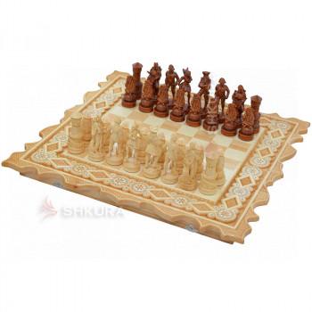 """Шахматы """"Пираты Карибского моря"""", 56х56 см. Бисер"""
