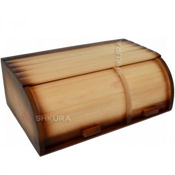 Деревянная хлебница на 2 отделения Д01
