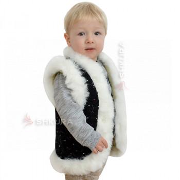 Детская жилетка из овчины