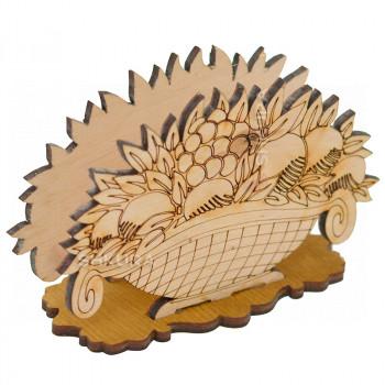 Деревянная салфетница 12. Корзина фруктов