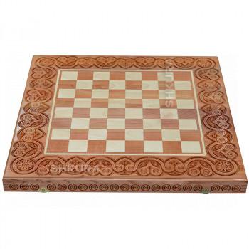 Шахматная доска, 55х55 см. Светлая