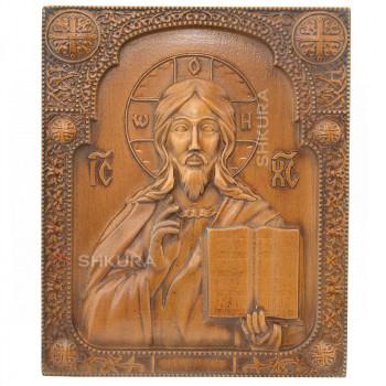 """Резная икона """"Христос Спаситель"""" 20 x 25 см"""
