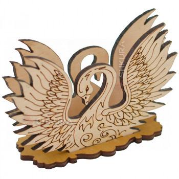 Деревянная салфетница 11. Лебедь
