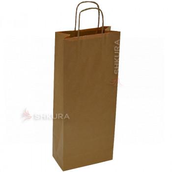 Пакет для подарков 16х9х39 см. Коричневый