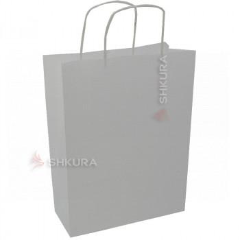 Пакет для подарков 25х11х32 см. Белый