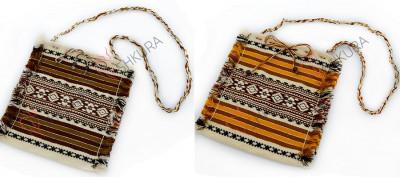 Тканевая сумка с украинским орнаментом