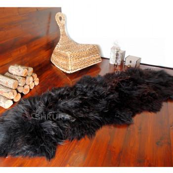 Ковер из черной овчины исландской породы, из 2