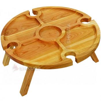 Винний столик, 37 см. Б02. Дуб