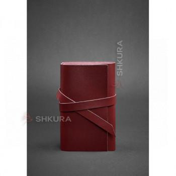 Женский кожаный блокнот (Софт-бук) 1.0 бордовый