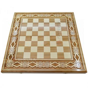 Шахматная доска. 60х60 см. Бисер