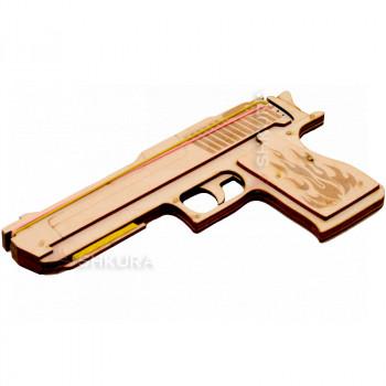 """Деревянный пистолет с резинками """"Резинкострел"""""""