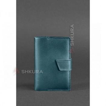 Женская кожаная обложка для паспорта 4.0 зеленая