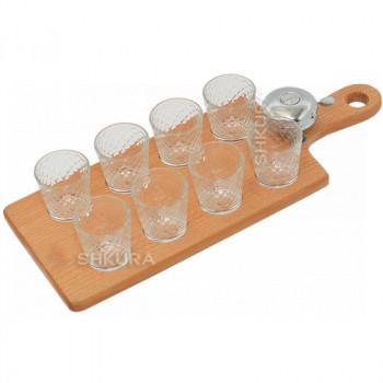Поднос со стаканами (8 шт)
