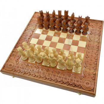 "Резные Шахматы ""Египет"". 50х50 см."