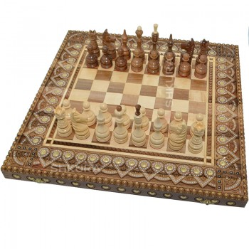 Сувенирные шахматы 50х50 см. Бисер+Медь.