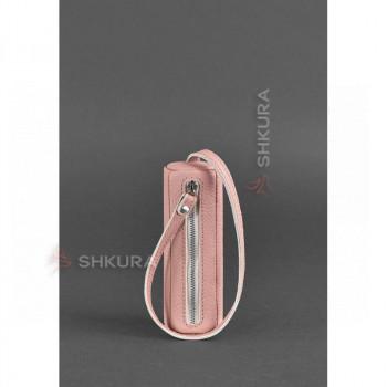 Женская кожаная ключница 3.0 Тубус розовая