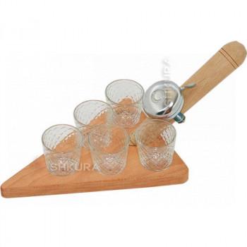 Поднос со стаканами (5 шт)