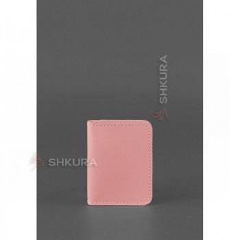 Женская кожаная обложка для водительских прав 4.0 Розовая