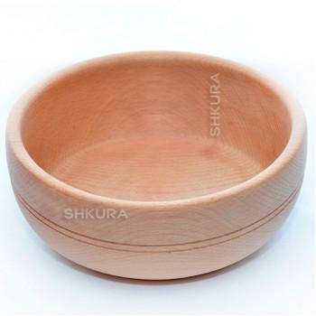 Деревянная тарелка 02. Глубокая
