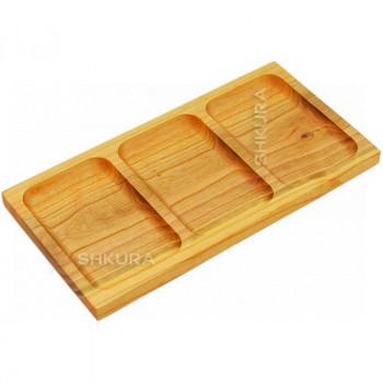 Доска для подачи еды на 3 секции, Б87