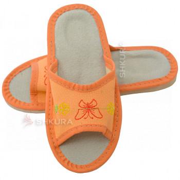 Кожаные тапочки для детей 06