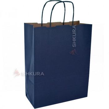 Пакет для подарков 25х11х32 см. Синий