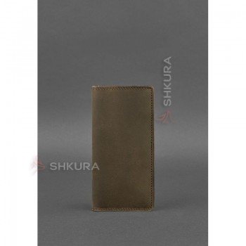 Кожаное портмоне-купюрник 11.0 темно-коричневое