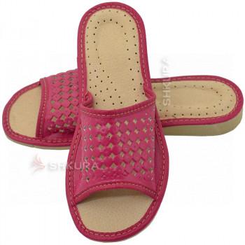 Тапочки женские летние, ШВН01. Розовые