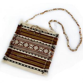 Тканевая женская сумка. Коричневая