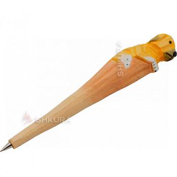 """Деревянная ручка """"Пёс"""""""