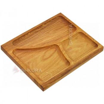 Доска для подачи блюд, 3 секции. Д11