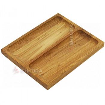 Доска для подачи блюд, 2 секции. Д01
