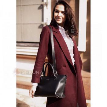 Женская кожаная сумка Midi черная