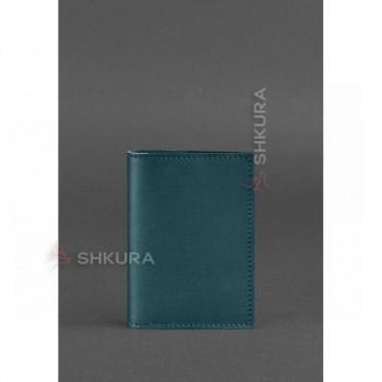 Женская кожаная обложка для паспорта 1.2 зеленая