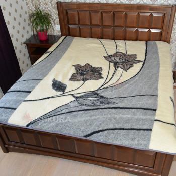 Шерстяное одеяло. Цветы 2