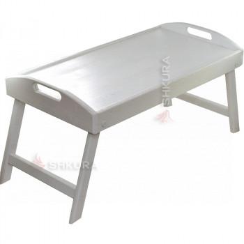 Деревянный столик для ноутбука. Дуб