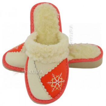 Тапочки женские зимние, ШВО4. Красные