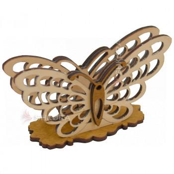 Деревянная салфетница 08. Бабочка