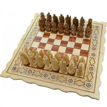 """Шахматы """"Рыцари"""". 56х56 см. Бисер"""