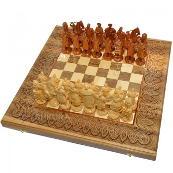 "Шахматы ""Казаки"". 50х50 см"